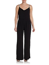 Jeweled Strap Jumpsuit Black