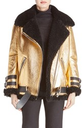 Acne Studios Women's 'Velocite' Metallic Genuine Shearling Jacket