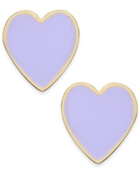 Kate Spade New York Gold Tone Colorful Heart Stud Earrings