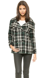 Lovers Friends Without You Coat Plaid