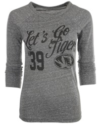 Royce Apparel Inc Women's Long Sleeve Missouri Tigers Graphic T Shirt Gray