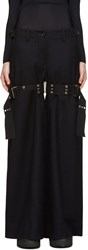 Sacai Navy Double Belted Trousers