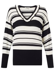 Alice By Temperley Somerset By Alice Temperley Frill Neck Jumper Black Cream