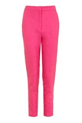 Topshop High Waist Suit Trousers Bright Pink