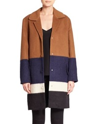 Mother Of Pearl Montiague Colorblock Wool Blend Coat Multi