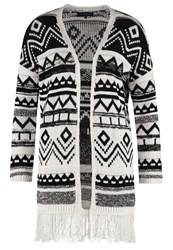 Evenandodd Cardigan Black White