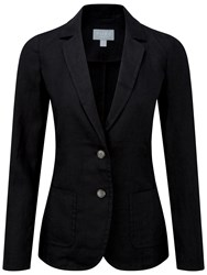 Pure Collection Dacre Laundered Linen Jacket Black