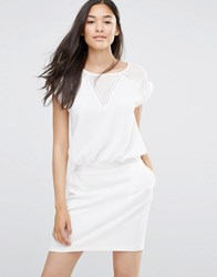 Soaked In Luxury White Dress With V Insert Lilly White
