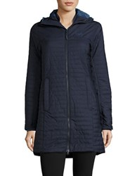 Jack Wolfskin Quilted Hooded Walker Coat Night Blue