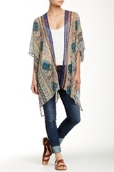 Daniel Rainn Print Bed Jacket Blue
