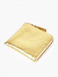 Comme Des Garcons Gold Leather Coin Wallet