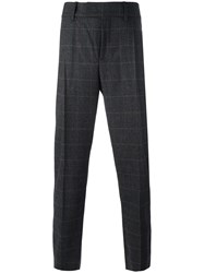 Neil Barrett Checked Tailored Trousers Grey