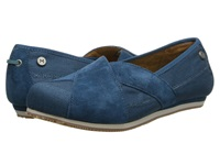 Mozo Sport Suede Canvas Teal Women's Shoes Blue