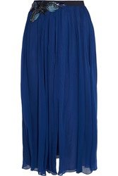 Matthew Williamson Embellished Silk Chiffon Midi Skirt