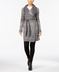 Styleandco. Style Co. Petite Belted Space Dyed Wrap Cardigan Only At Macy's Grey Combo