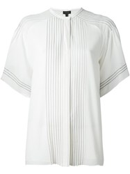 Burberry Runway Stitch Detail Short Sleeve Shirt White