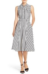 Women's Julia Jordan Stripe Stretch Cotton Shirtdress