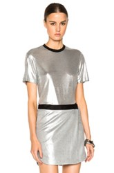 Josh Goot Fitted Top In Metallics Black
