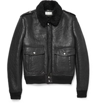 Saint Laurent Shearling Flight Jacket Mr Porter