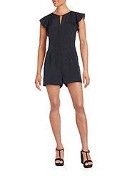 Collective Concepts Flutter Sleeve Short Jumpsuit Black