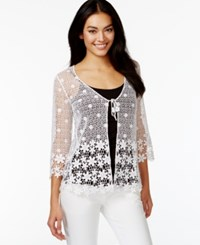Alfani Petite Crochet Lace Cardigan Only At Macy's