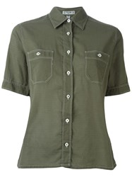 Celine Vintage Shortsleeved Shirt Green