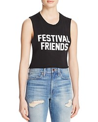Private Party Festival Friends Crop Tank Black