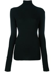Barbara Bui Roll Neck Knitted Blouse Black