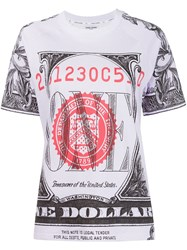 Opening Ceremony One Dollar Bill Print T Shirt Pink And Purple