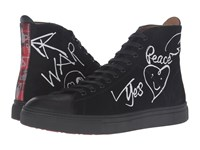 Vivienne Westwood High Top Trainer Black White Men's Lace Up Casual Shoes