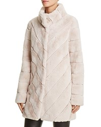 Calvin Klein Faux Fur Jacket Compare At 270 Blush