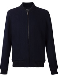A.P.C. Zip Cardigan Blue