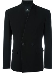 Tom Rebl Double Breasted Blazer Black