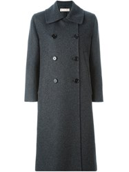 Marni Double Breasted Coat Grey