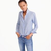 J.Crew Petite Perfect Shirt In Striped Cotton Linen