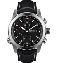 Bremont Alt1 Zt Zulu Stainless Steel And Leather Watch Black
