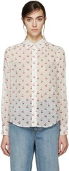 Marc By Marc Jacobs Ivory Cherry Shirt