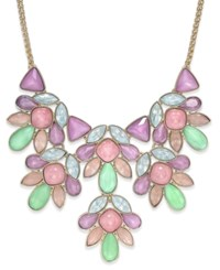 Charter Club Gold Tone Colorful Crystal Statement Necklace Only At Macy's