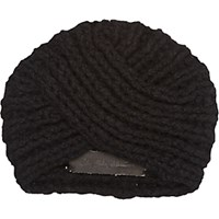 The Elder Statesman Women's Knit Turban Black Blue Black Blue