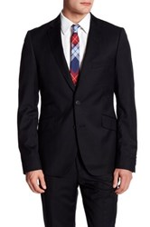 Ted Baker Slick Rick Two Button Notch Lapel Wool Jacket Black