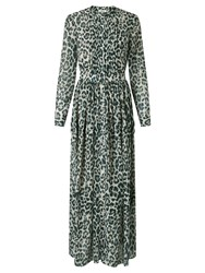 Alice By Temperley Somerset Animal Print Maxi Dress Grey
