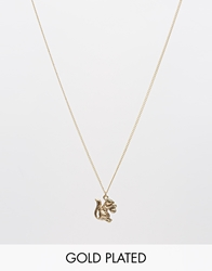 And Mary Necklace With Antique Gold Plated Squirrel Charm