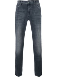 7 For All Mankind Stonewash Skinny Jeans Black