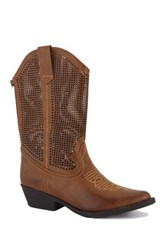 Intaglia Laredo Wide Calf Cowgirl Boot Brown