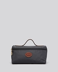 Longchamp Cosmetic Case Le Pliage Gunmetal