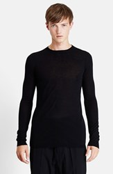 Men's Rick Owens 'Level' Wool Crewneck Sweater Black