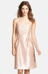 Women's Alfred Sung Strapless Dupioni Dress Pearl Pink