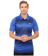 Nike Tiger Woods Vl Max Sphere Stripe Polo Game Royal Midnight Navy Reflective Silver Men's Short Sleeve Pullover Blue