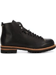 Feit Lace Up Boots Black