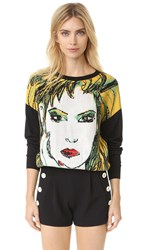 Boutique Moschino Long Sleeve Sweater Black